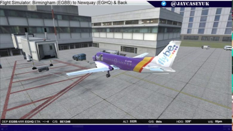 FSX: Birmingham Airport (EGBB) to Newquay (EGHQ) in a Flybe Saab 340