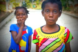 Kelly took this photo of two girls outside the MPP compound.