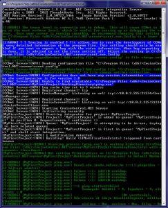 CC.NET futtatása parancssorból