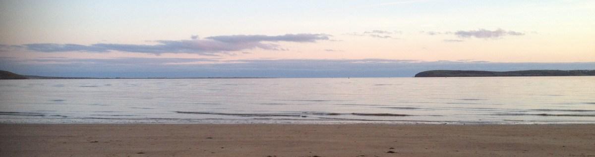 Duncannon Beach, evening time