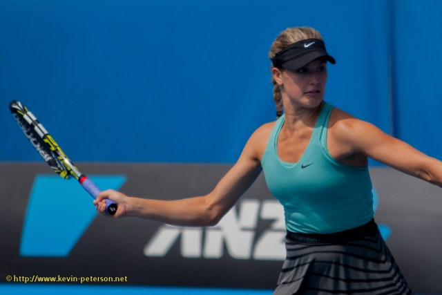 Eugenie Bouchard (CAN) Vera Dushevina (RUS) vs. Cara Black (ZIM)