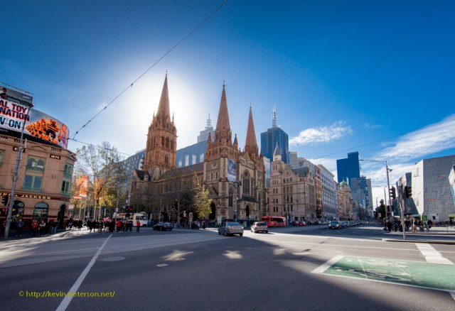 St Paul's Cathedral - Flinders Street -  sports a Halo!