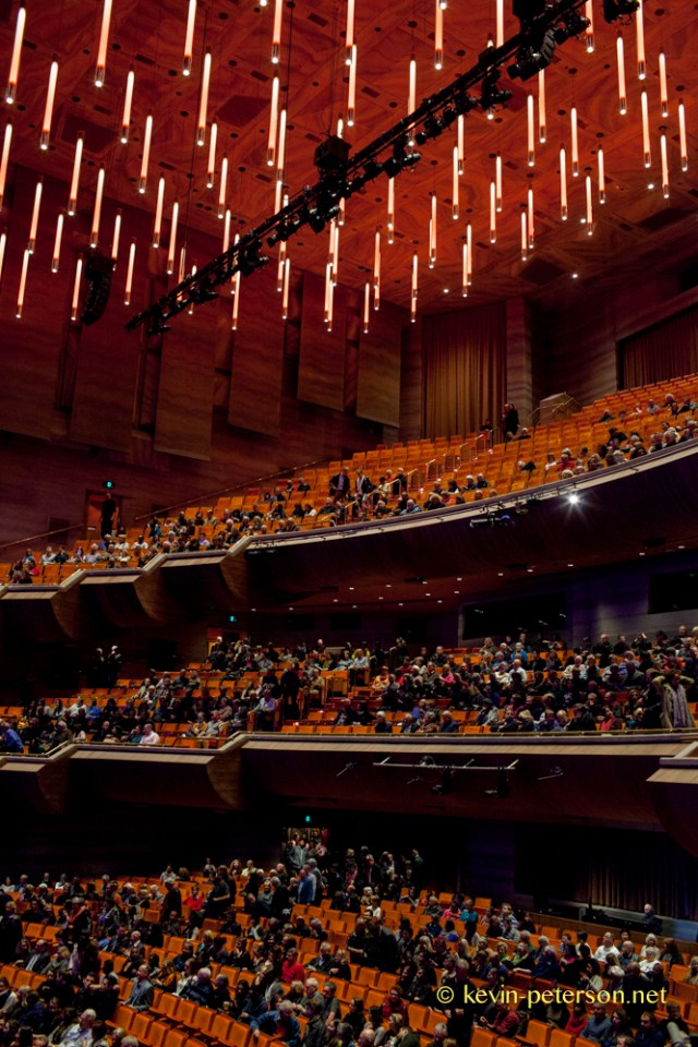 The patrons  begin to take their seats in the accoustically designed Hamer Hall.