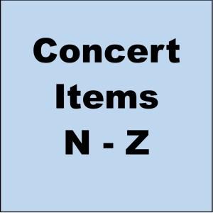 Concert Items N-Z