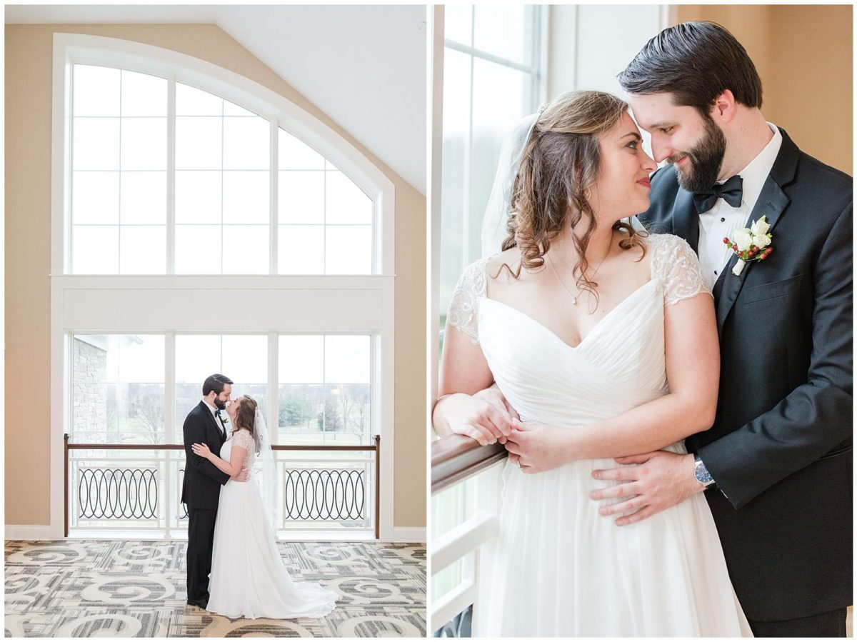 Bride and Groom at a winter wedding on New Year's Eve at Copper Creek Event Center in Cincinnati, OH.