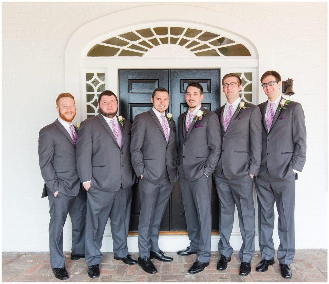 Groom and Groomsmen Wedding Photos at Ashford Acres Inn in Cynthiana, Kentucky.