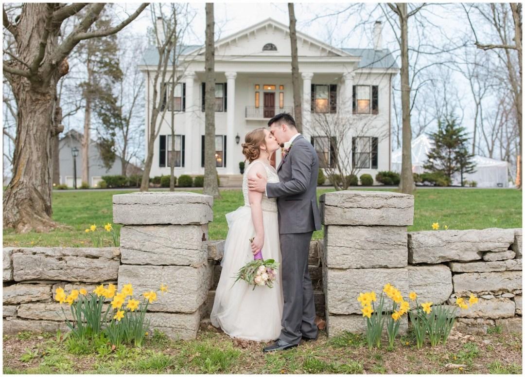 Bride and Groom Photos at Ashford Acres Inn in Cynthiana, Kentucky.