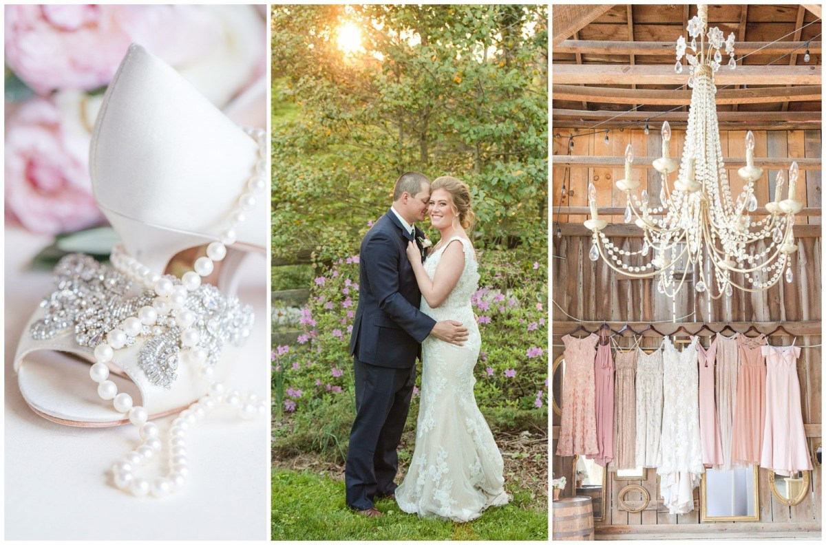 Spring wedding at the Barn at Springhouse Gardens in Nicholasville, KY