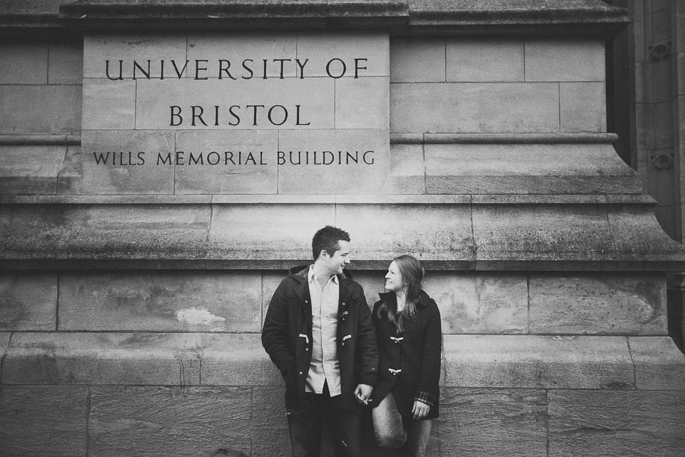 Brstol pre-wedding photography at Wills memorial building