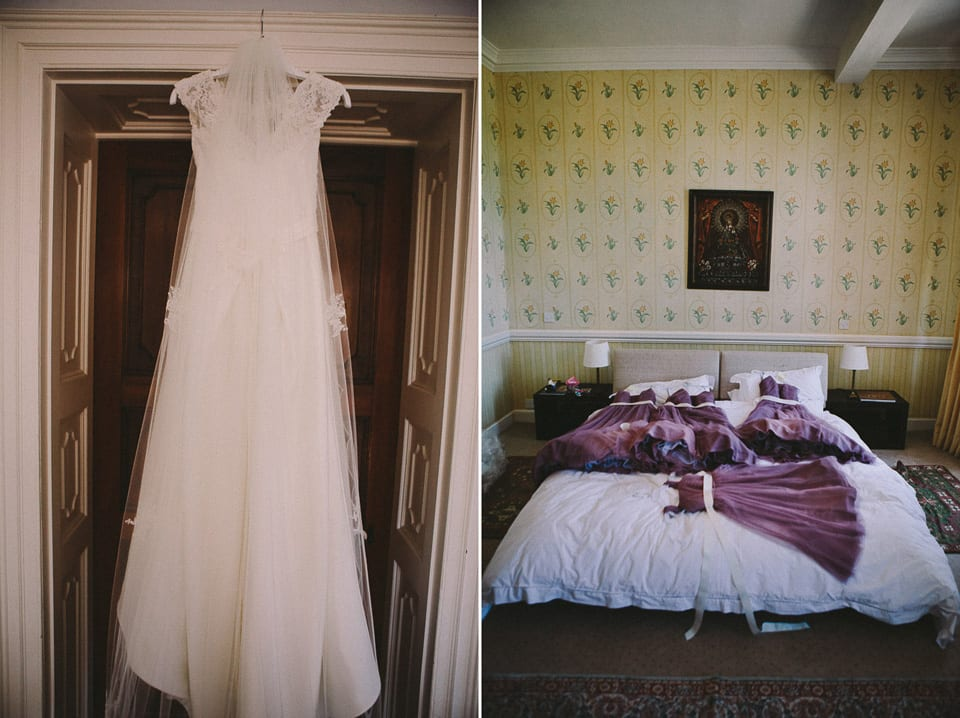 wedding dress and bridesmaids dresses