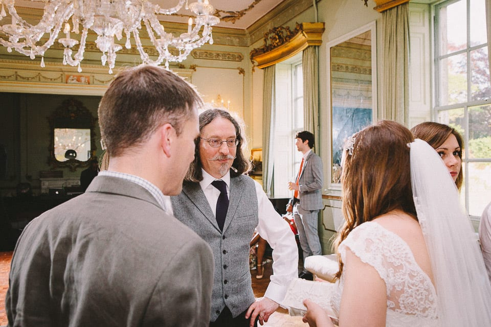 brides father talking