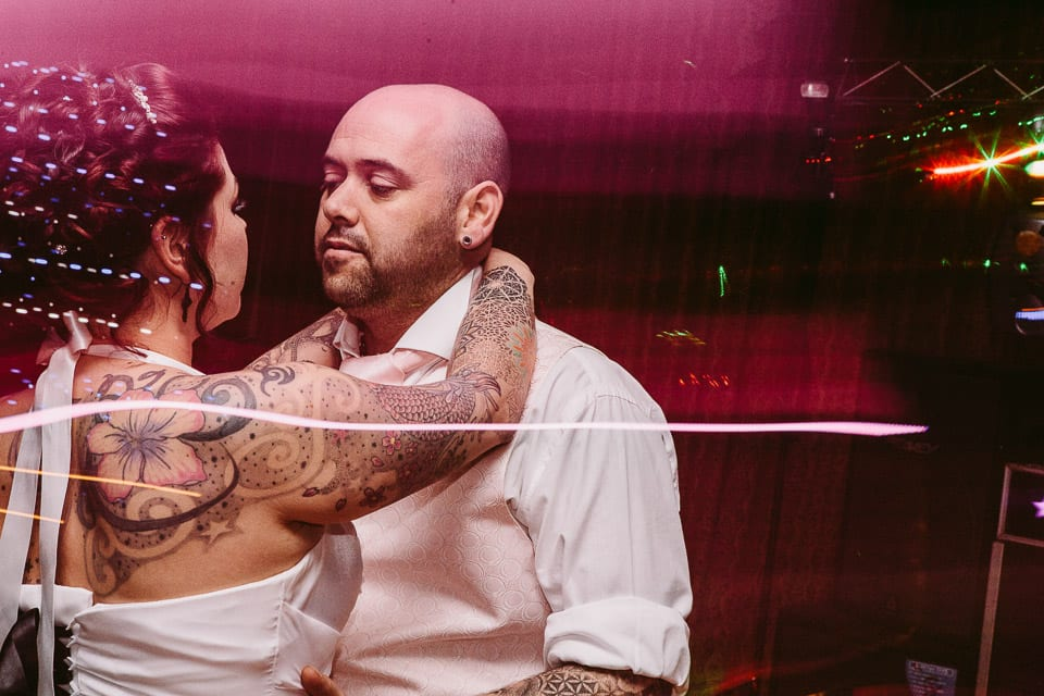 tattooed bride first dance