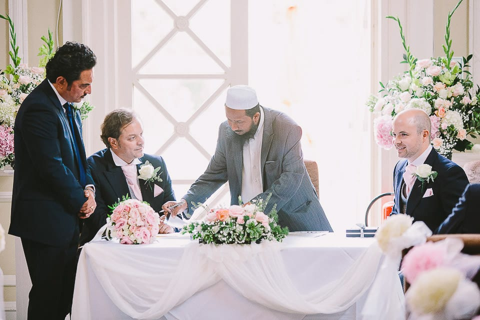 Brother of the bride seated during Islamic ceremony at Bath Spa Hotel