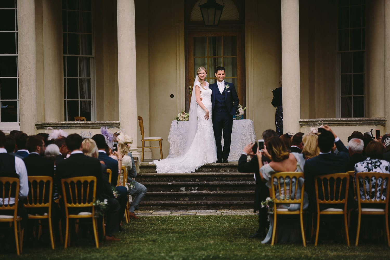 Bride and groom at Rockley Manor