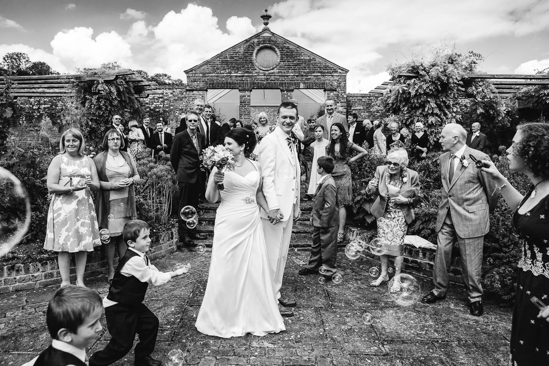 Wedding in the secret garden at Rockley Manor