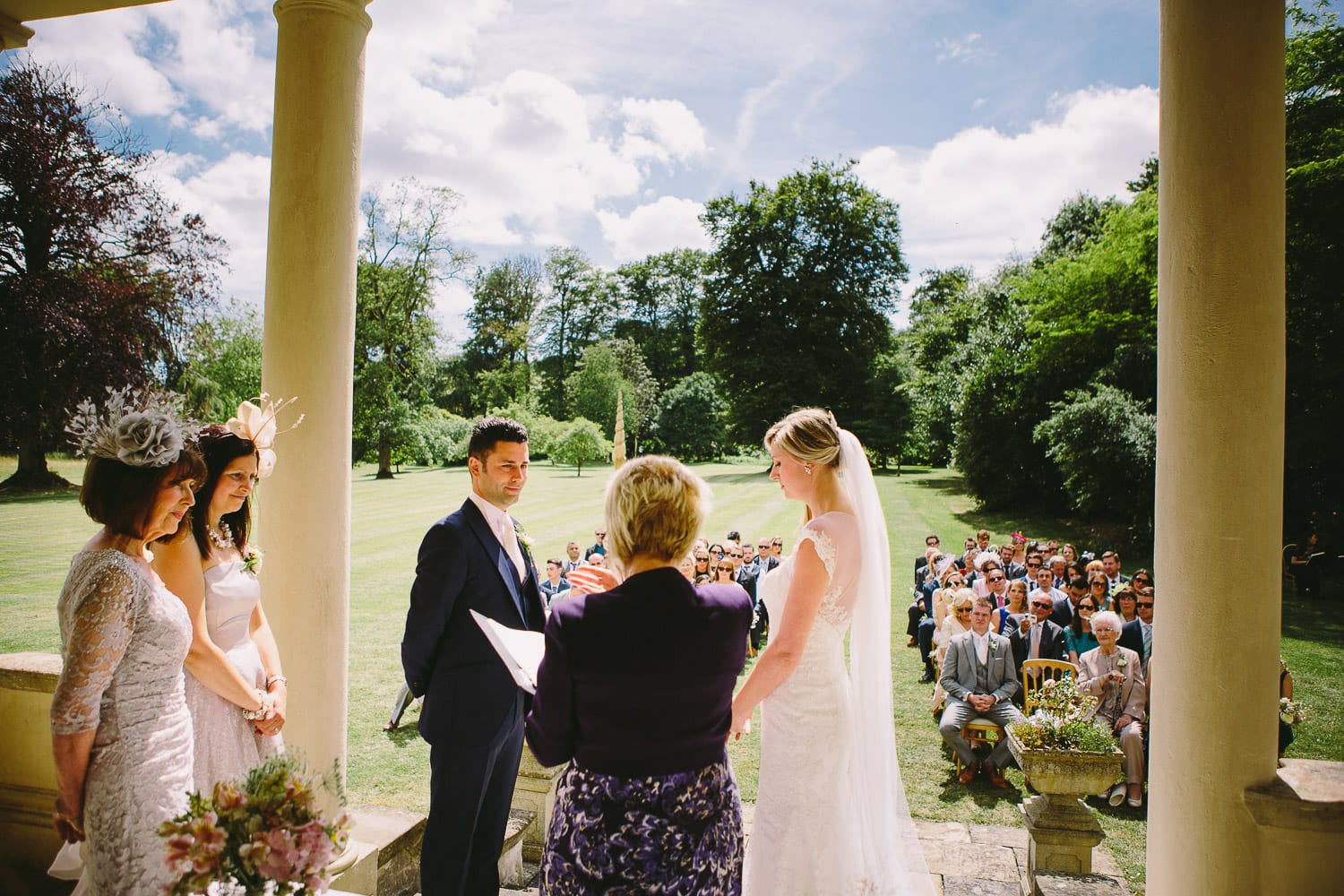 A wedding ceremony at Rockley Manor