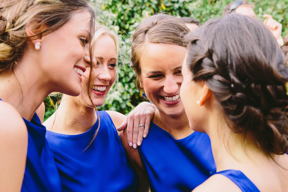 Bridesmaids having a laugh