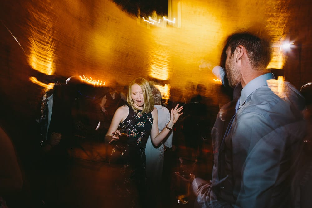 Guests on the dance floor at Cripps Stone Barn
