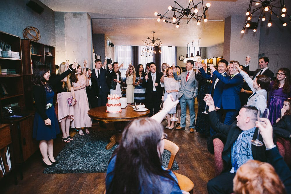 View of the reception room while speeches were done at The Hoxton London