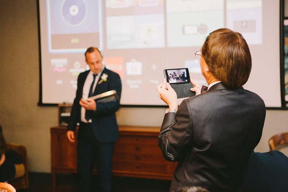 Brother of the groom giving his speech at The Hoxton London