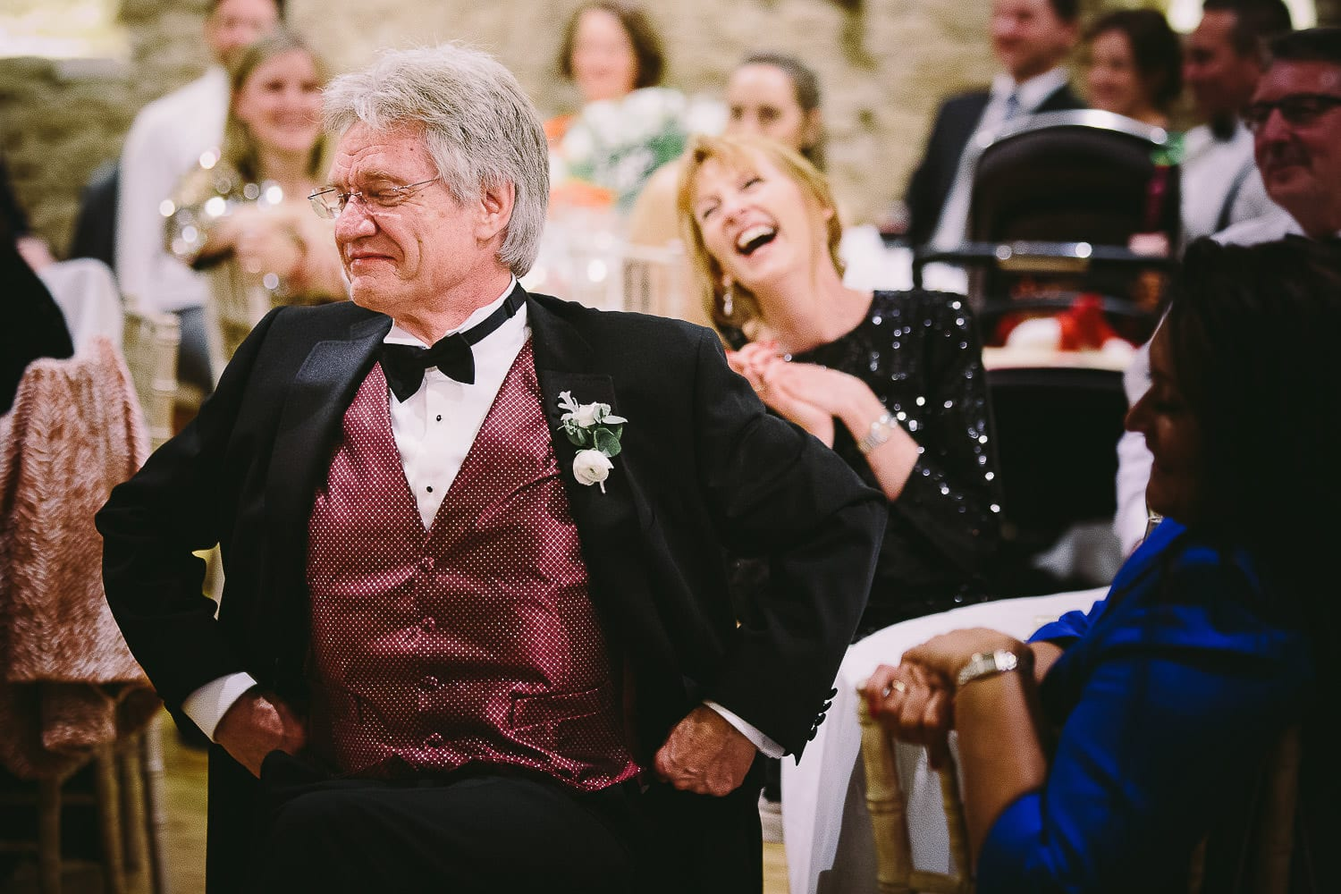 Brides parents during the speeches