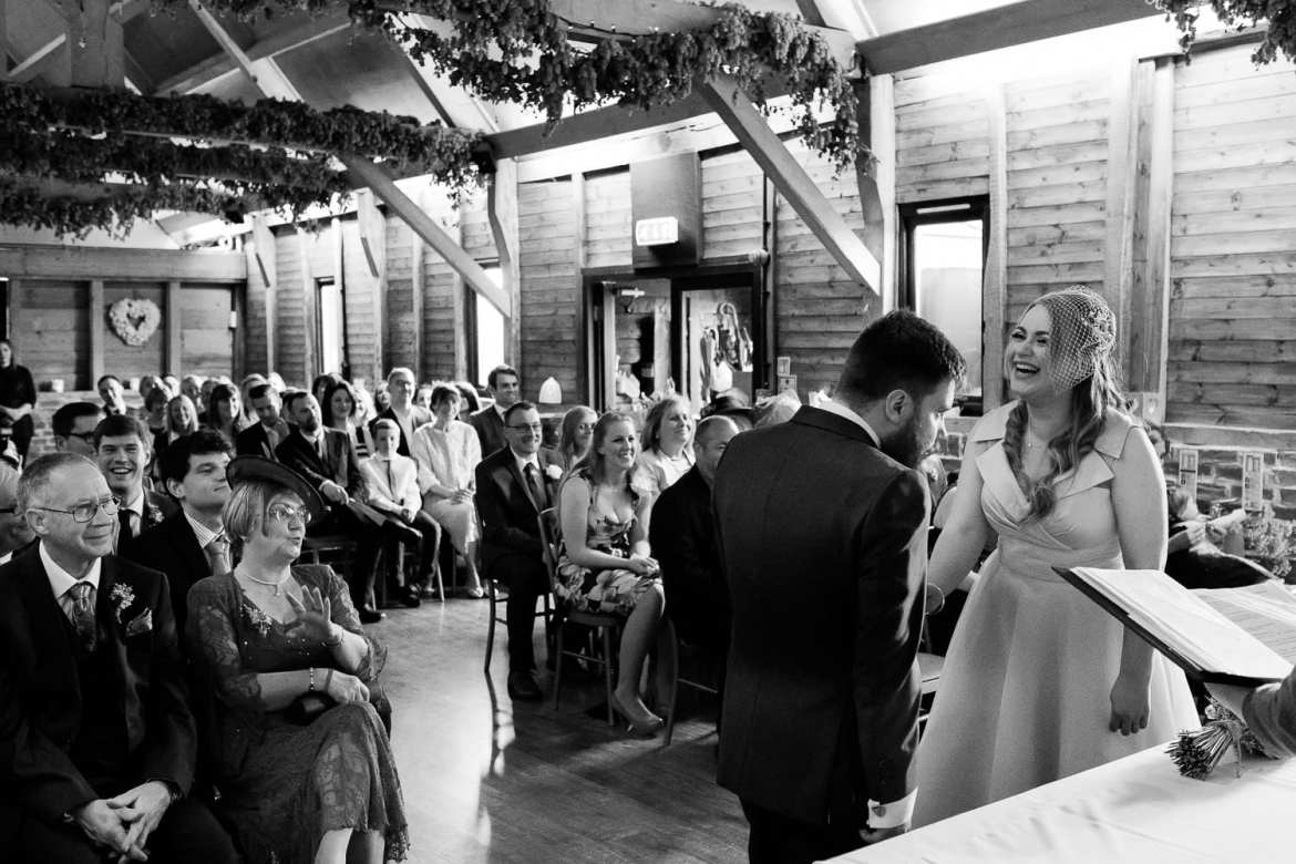 The Wellington Barn wedding ceremony