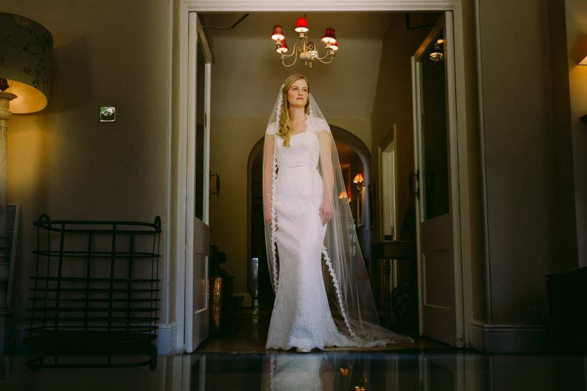 Bridal portrait at the Rectory Hotel