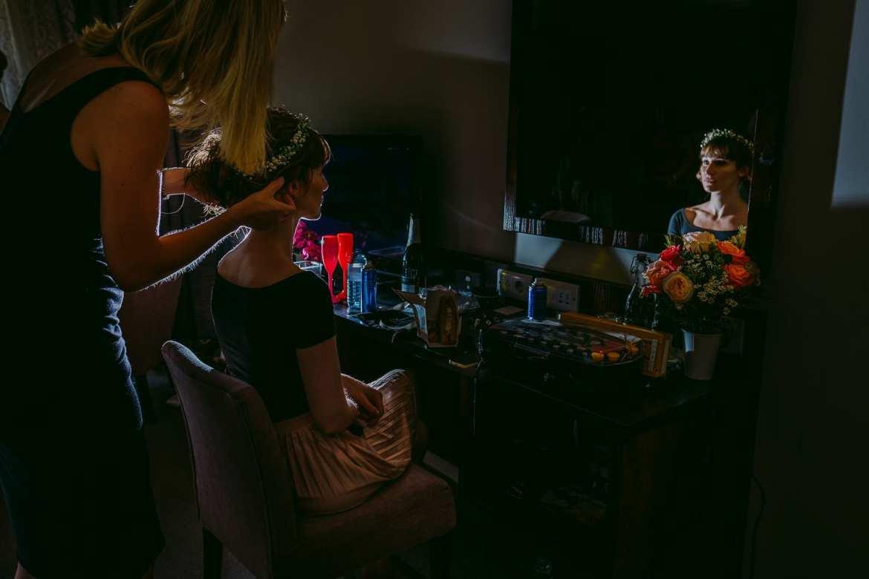 Bridal preparations shot with the fujifilm x-pro2