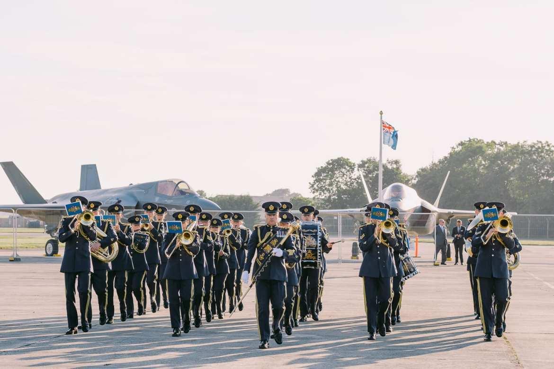 The cadet band at RIAT