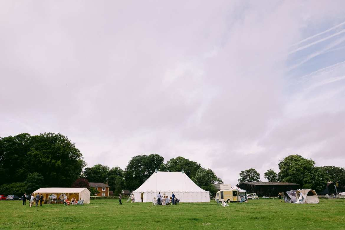 The festival wedding in Wiltshire