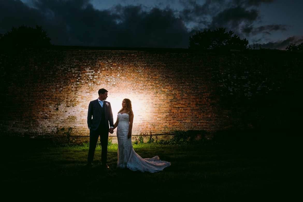 Wedding photography in the orchard at Trereife house