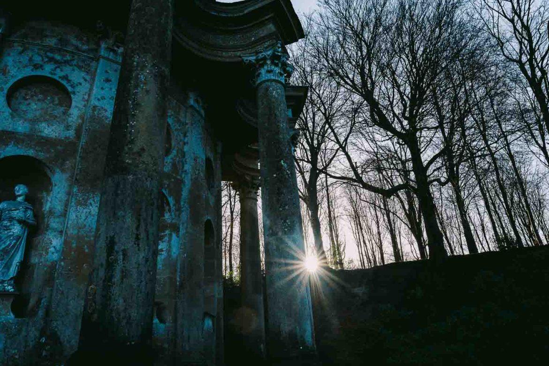 The temple of Apollo at Stourhead Gardens