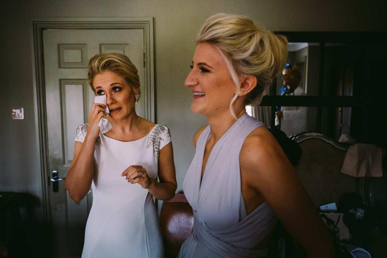 the bride sheds a tear