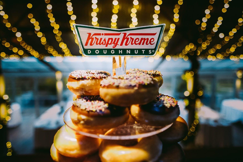 Krispy Kreme doughnut cake