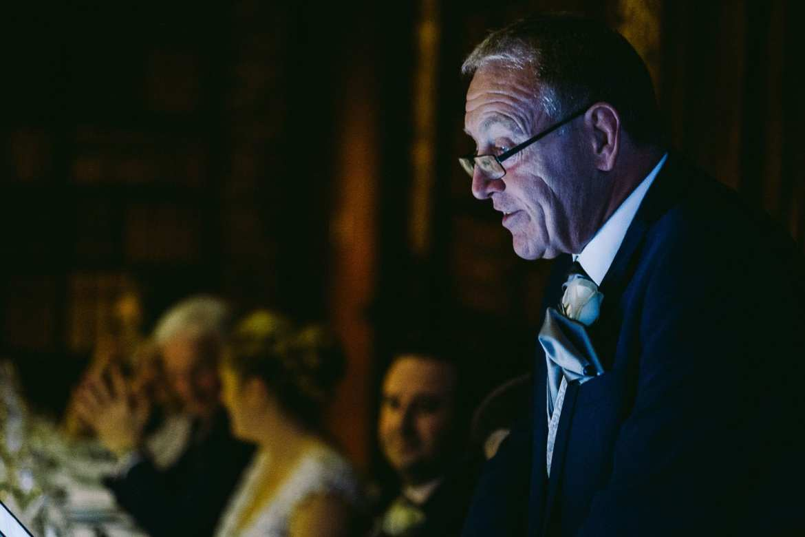 Brides father doing his speech