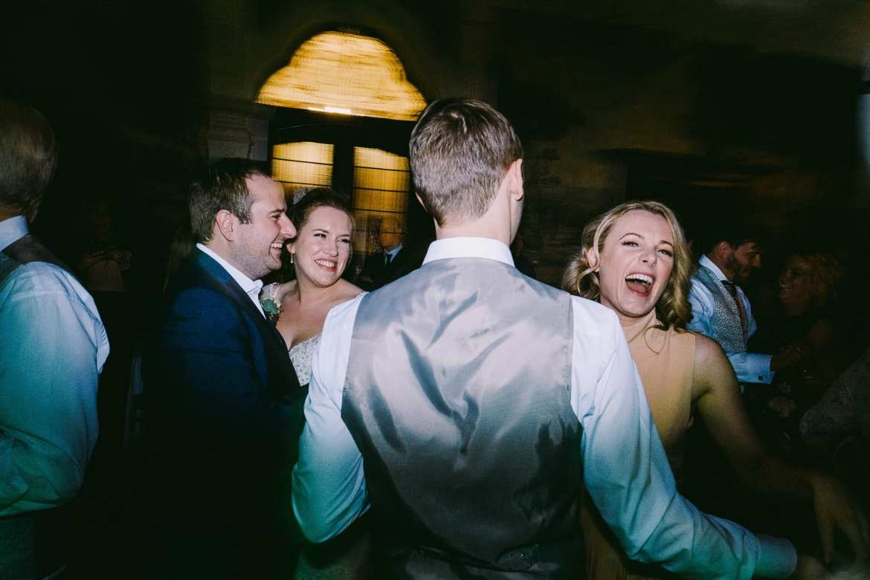 Guests enjoying the dancing