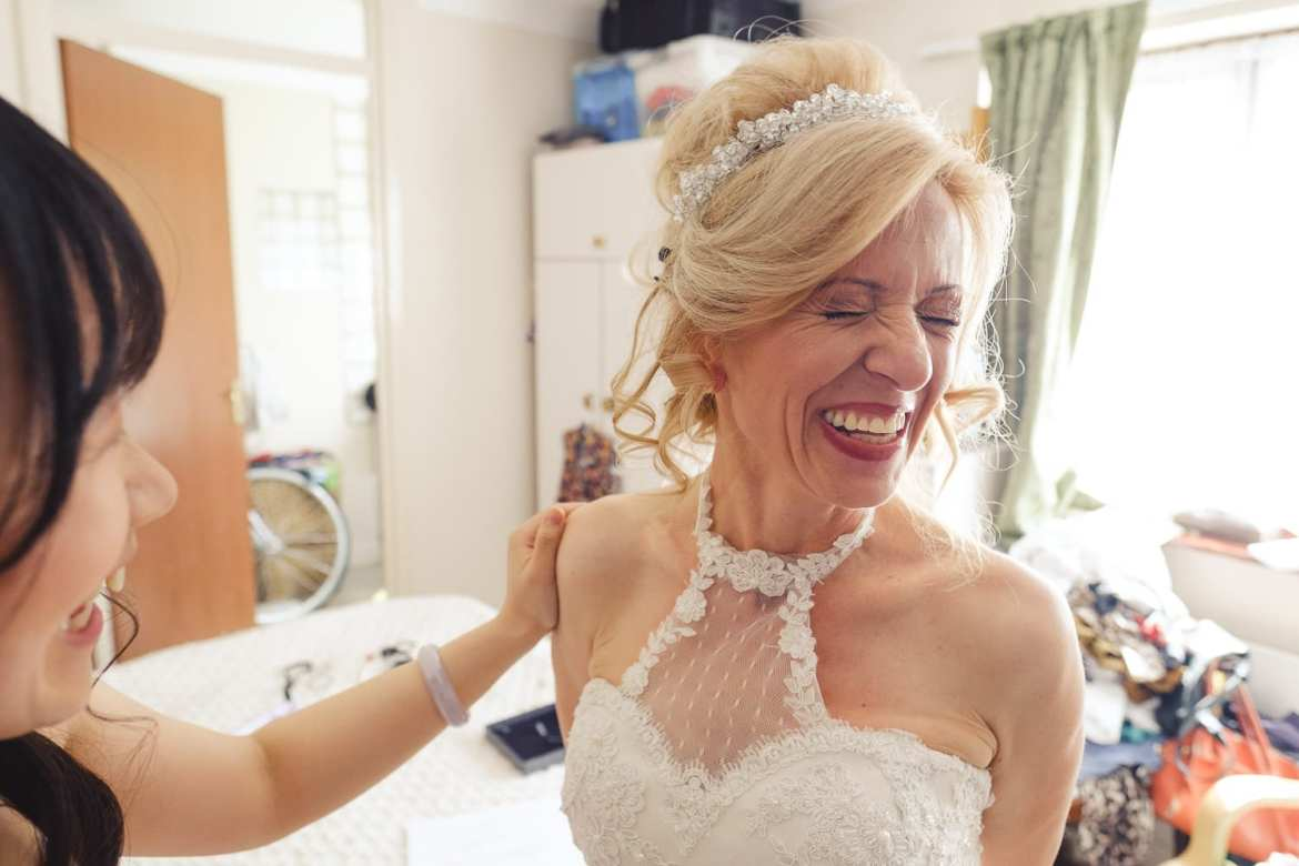 An excited bride