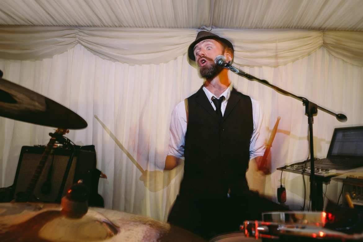 The drummer of the wedding band
