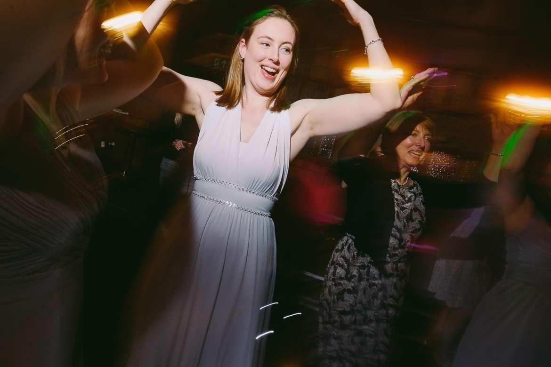The bride's sister dancing