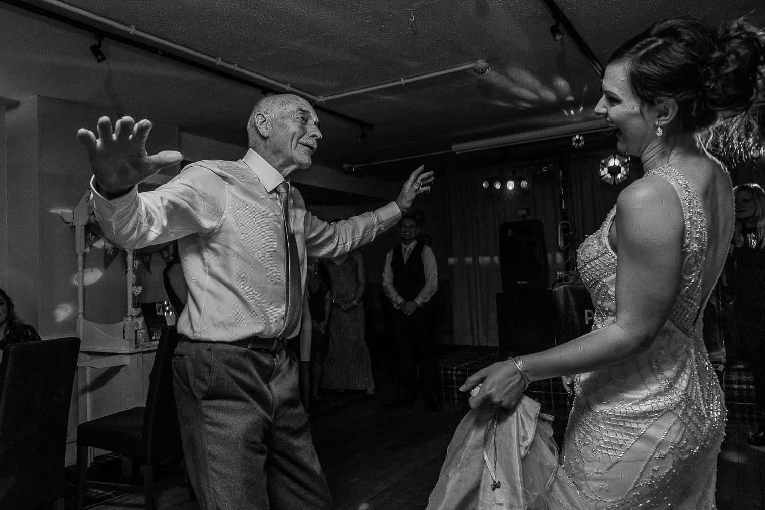 Dad dances with the bride