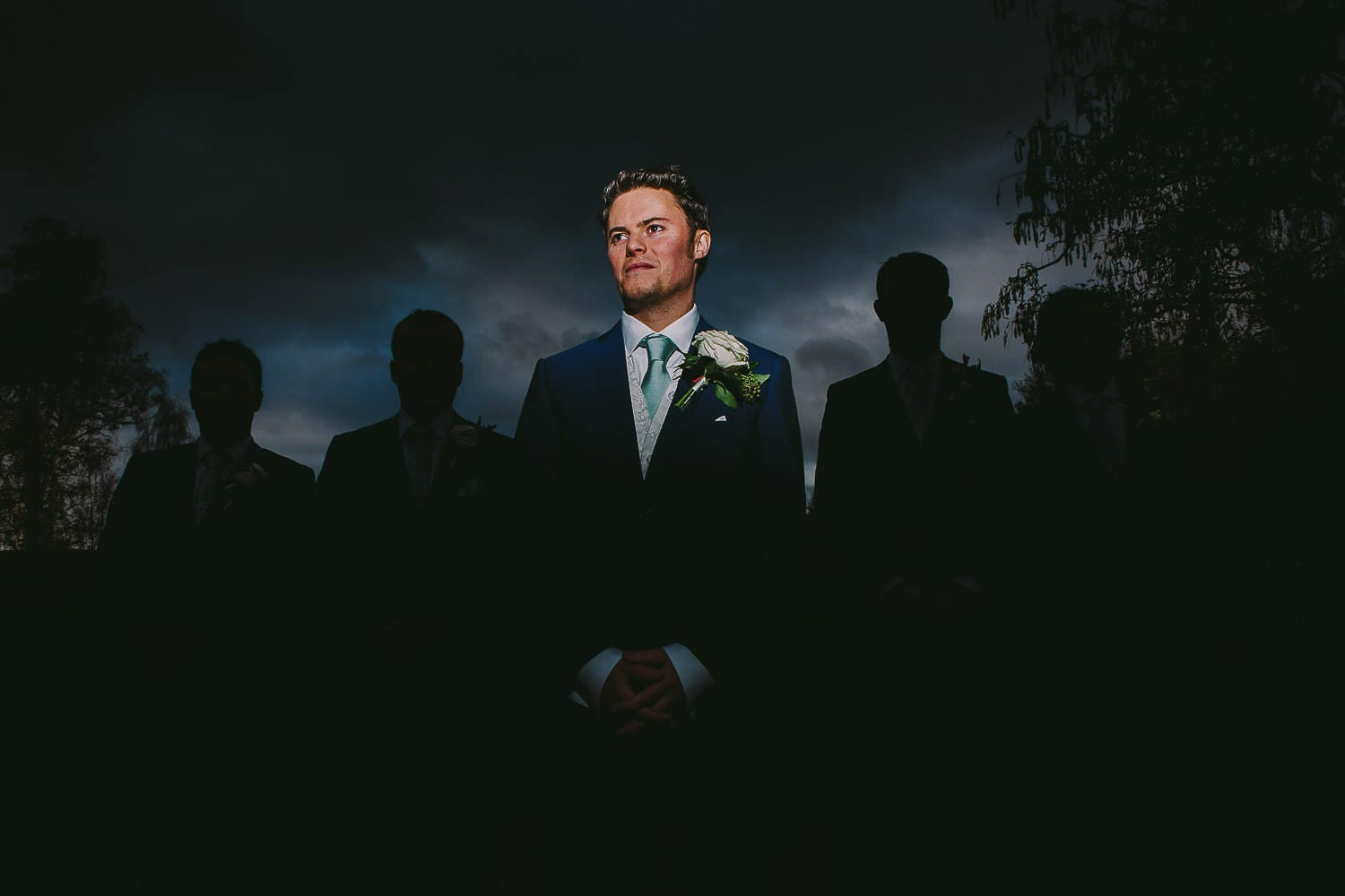 A portrait of the groom at Matara
