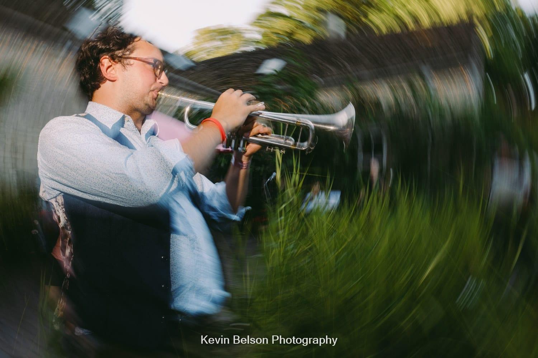 trumpet in the garden