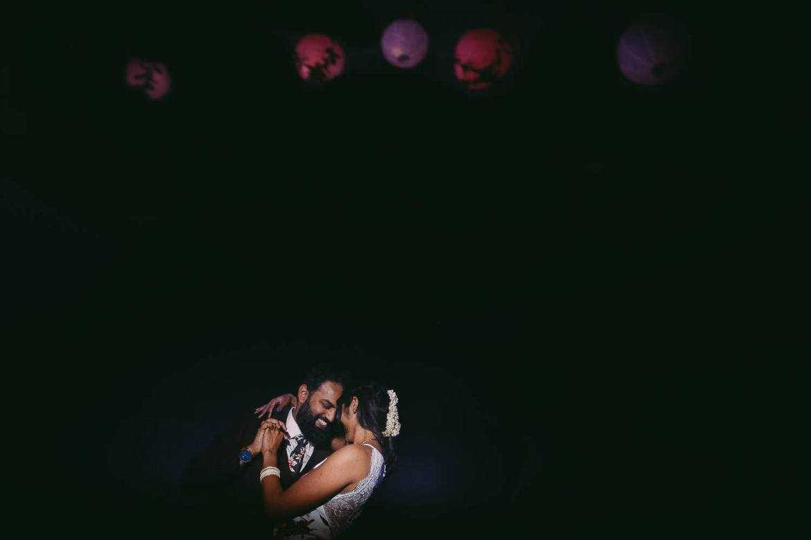 The bride and groom's first dance