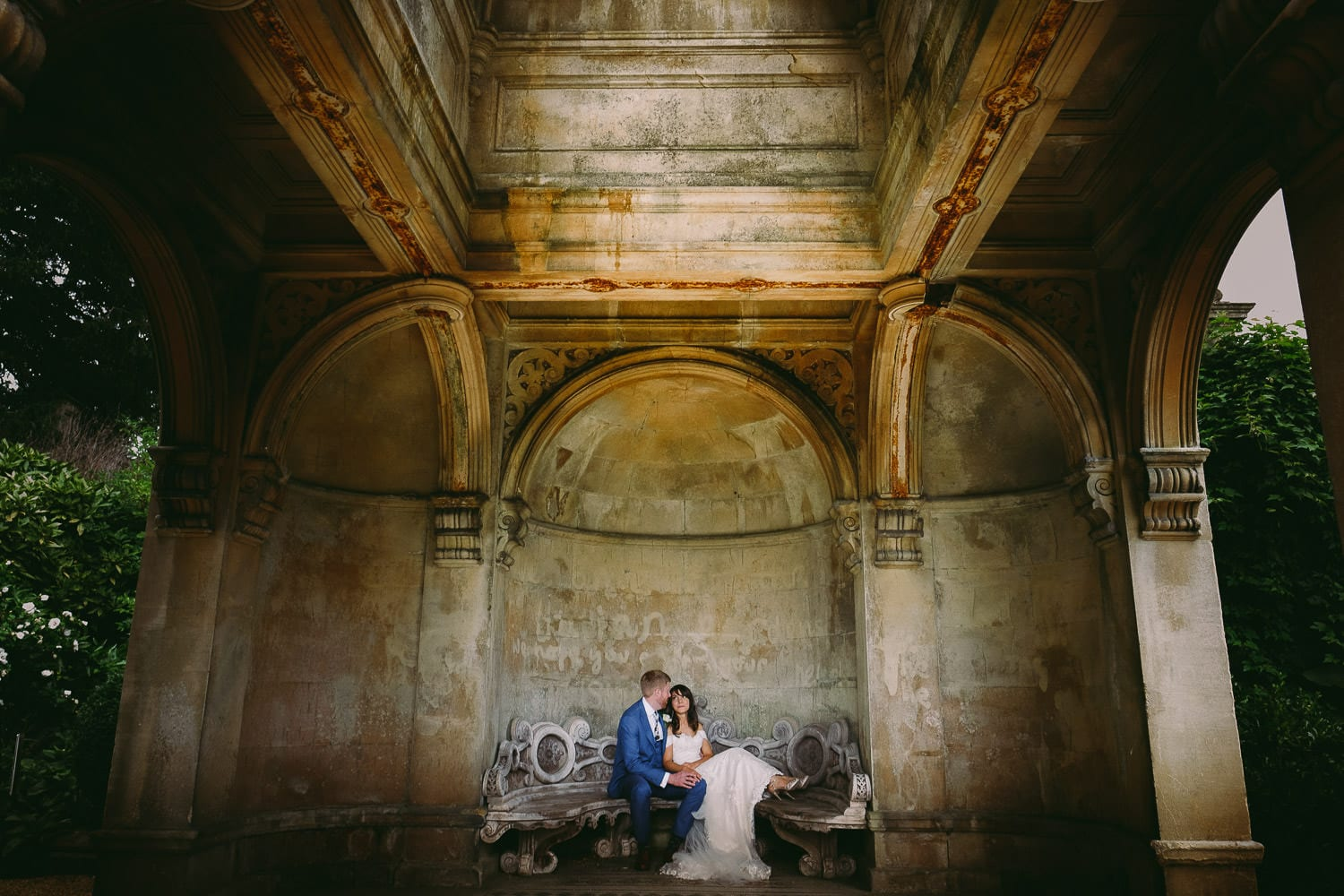 newlyweds at westonbirt house