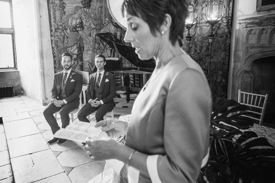 Another of the mothers of the groom makes a reading in the Great Hall