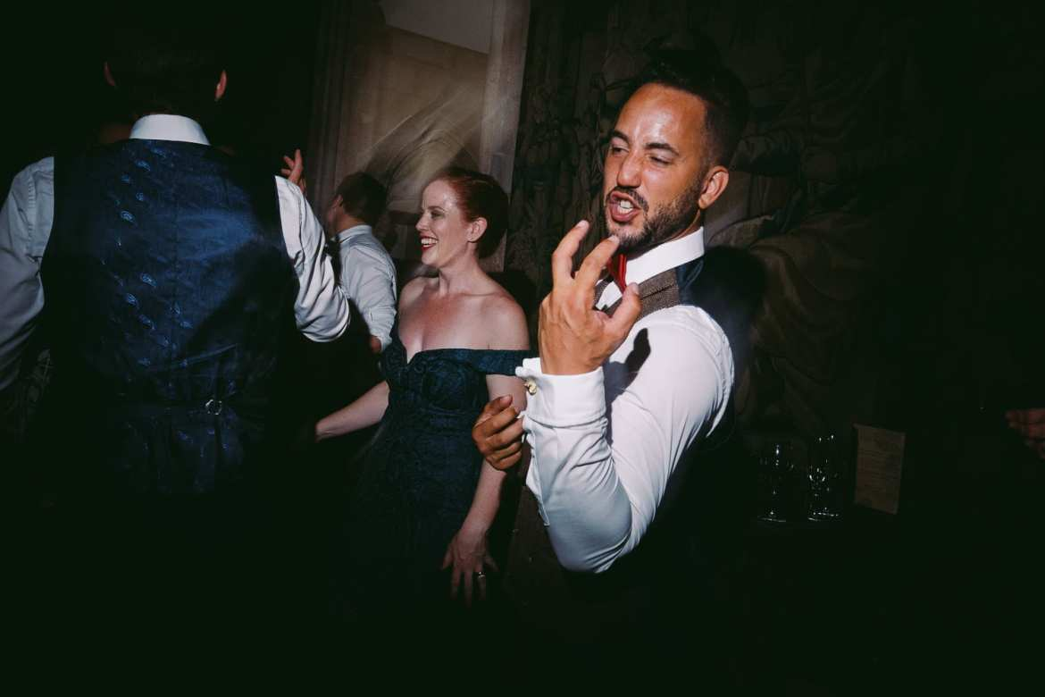 A groom dancing