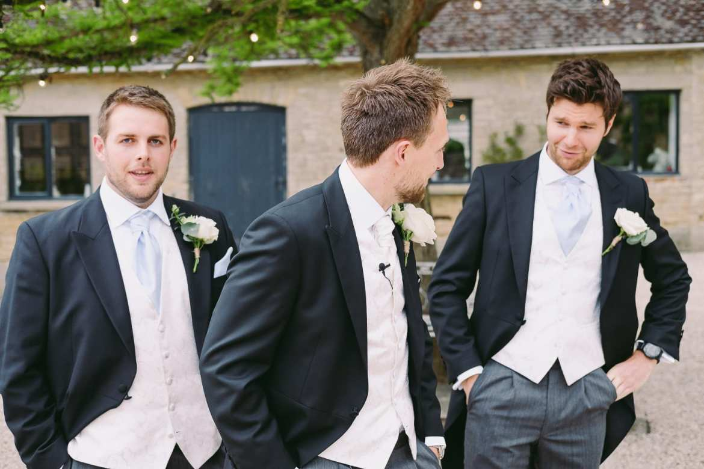 The groom practices his speech