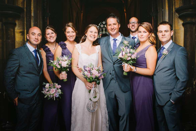 a wedding group photo