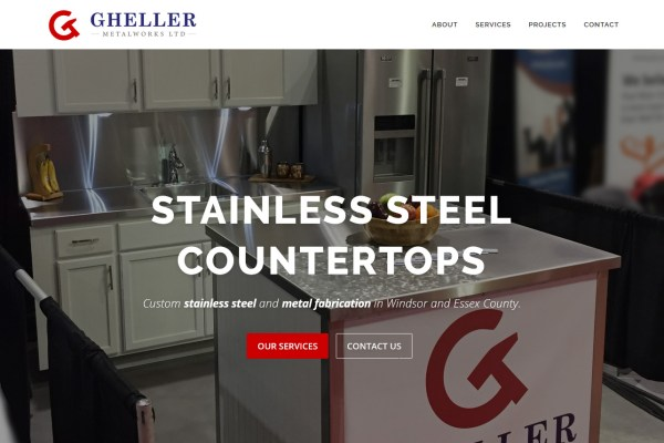 Gheller Metalworks Website Cover