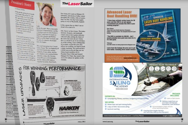 International Sailing Academy Advertisement in The Laser Sailor Magazine